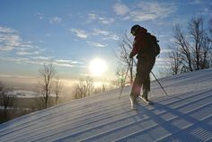 Bromont, montagne d'expériences is a ski centre located in the Eastern Townships, recognized for its largest lit ski centre in North America. Bromont was founded in 1964 by . Canton, Wine Country, Quebec, North America, Skiing, Activities, Mountains, Outdoor, Art