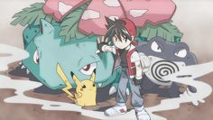 Red and his Pokémon