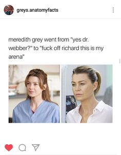 The change in Meredith... I want the good old days back :(