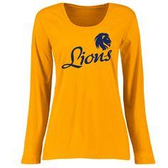Size XL: Texas A & M Commerce Lions Women's Dora Classic Fit Long Sleeve T-Shirt - Gold
