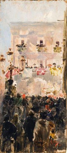 Vincenzo Migliaro - Processione a Napoli 1901