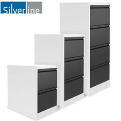 Silverline Two Tone M:Line Filing Cabinets - Introducing Silverline M:Line Two Tone Fling Cabinets. Free UK mainland delivery on Silverline Two Tone M:Line Filing Cabinets. Filing Cabinets, Lockers, Locker Storage, Metal, Furniture, Home Decor, Decoration Home, Room Decor, Locker