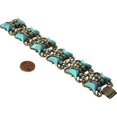 Fabulous, Chunky 50's Faux Bracelet - poss. unsigned HAR - Fabulous, Chunky 50's Faux Bracelet - poss. unsigned HAR