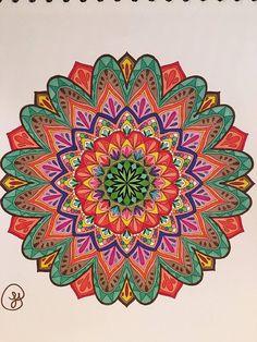ColorIt Mandalas to Color Volume 1 Colorist: Lynn Posey Pendleton #adultcoloring #coloringforadults #mandalas #mandala #coloringpages