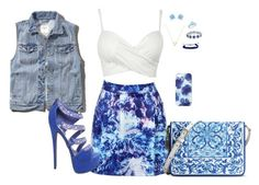 """blue.chillin'"" by hsmklau ❤ liked on Polyvore featuring Abercrombie & Fitch, Dolce&Gabbana, Jigsaw, Swarovski, Wanderlust + Co, Bling Jewelry and Domo Beads"