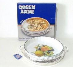 Queen Anne Flan Dish Silver Plated Tableware *New & Unused* Queen Anne, Flan, Silver Plate, Plating, Pottery, Dishes, Tableware, Amp, Kitchen