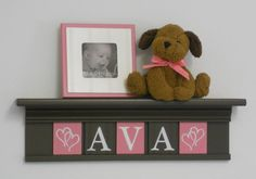 Pink and Brown Baby Girl Nursery Decor  by NelsonsGifts on Etsy, $40.00