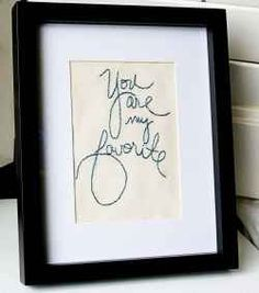 How to embroider your own handwriting