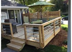 Are you thinking of how to build outdoor deck plans to beautify your outdoor living spaces? I have here how to build outdoor deck plans living spaces ideas. Deck With Pergola, Backyard Pergola, Patio Roof, Backyard Landscaping, Pergola Kits, Pergola Ideas, Deck Railing Ideas Diy, Pergola Roof, Cheap Pergola