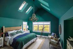 Closet Bedroom, Bedroom Wall, Bedroom Decor, Bedroom Colors, Bedroom Ideas, Aqua Walls, Red Walls, Portsmouth, Headboard And Footboard