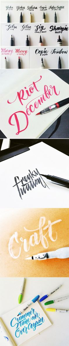 a guide to brush lettering