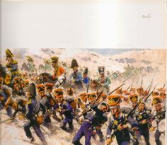 The Marines of the Imperial Guard advance against the Spanish at Bailen 1808.