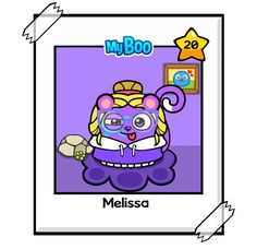 You like Melissa she is so pretty and funky isn't it cute well you like this vote for me Melissa  #MyBooGame