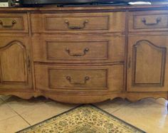 Vintage French Provincial Buffet/dresser/media console