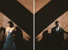 bride & groom & shadows