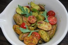 Ofenkartoffelsalat mit Rucolapesto