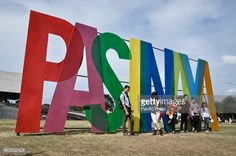 A group of Filipinos pose for a photo at the Pasinaya signage in. Forest Festival, Free Standing Letters, Event Signage, Event Marketing, Environmental Graphics, Summer Events, Retail Design, Filipino, Corporate Events