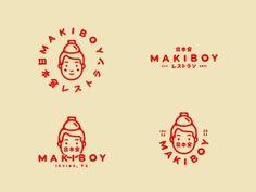 japan logo design trend makiboy – MY DESIGN Food Logo Design, Logo Design Trends, Logo Food, Web Design, Graphic Design Inspiration, Logo Desing, Japan Design, Design Ideas, Type Logo