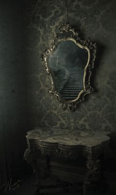 Staircase in a mirror, a beautiful image