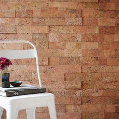 cork walls cork tiles brick wall