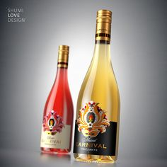 """Frizzante """"Carnival"""" on Behance Cool Packaging, Beer Packaging, Beverage Packaging, Wine Bottle Design, Wine Label Design, Peach Drinks, Fun Drinks, Cocktail Party Food, Wine Logo"""