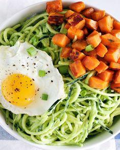 1. Zoodle Breakfast Bowl #whole30 #paleo #breakfast #recipes http://greatist.com/eat/whole30-breakfast-recipes