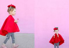 Easy No-Sew Apple Costume via @deliacreates | DIY Kids Costume