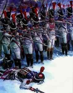 1812 11-17 Krasnoye, Dutch Grenadiers of the Imperial Guard - A.N. Yezhov