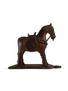 Michael Aram wodden horse