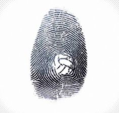 The fingerprint of a #volleyball player