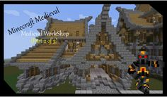 Minecraft Medieval WorkShop- Tutorial- (Part 2 of 3) How to Build a Medi...