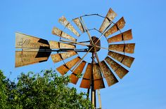 rusty windmill in North Dakota