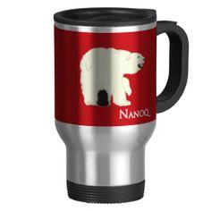 "Nanoq (Polar Bear) Coffee Mug  ""Nanoq"" is Greenlandic for ""Polar Bear"". The design, created in Adobe Illustrator, is simply a polar bear.  http://www.zazzle.com/greenlandhl*"