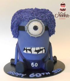 3D Evil Stuart Minion Birthday Cake - by Nada's Cakes Canberra