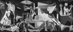 Guernica- Pablo Picasso  So much symbolism and meaning behind this one