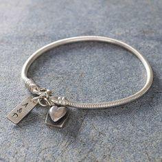 Personalised Pulse Bracelet SILVER CHARM