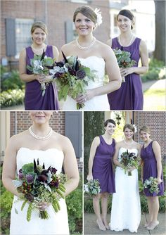 Purple And Green Classic Wedding