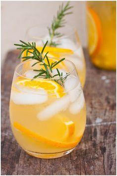 Citrus and Rosemary Iced Tea