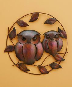 Look what I found on #zulily! Duo Owl Wall Décor #zulilyfinds