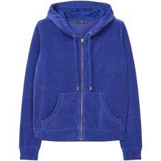 Velvet Sweatshirt ($45) ❤ liked on Polyvore featuring tops, hoodies, sweatshirts, mango sweatshirt, velvet top, zipper top, blue velvet top and mango tops