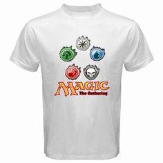 f9323913 New MAGIC THE GATHERING MTG Logo Men's White T-Shirt S M L XL 2XL 3XL | eBay