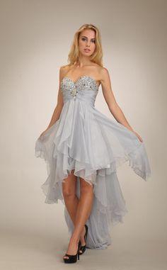 Fabulous plus size hi low wedding dresses Asymmetric Beaded High Low Prom Dress