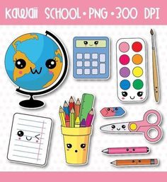 off, school supplies clip art, back to school clipart, kawaii school Cute Kawaii Drawings, Kawaii Doodles, Cute Clipart, Vector Clipart, Griffonnages Kawaii, Back To School Clipart, Cute Fonts, Dibujos Cute, Doodle Art