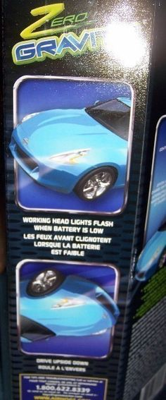 Air Hogs Zero Gravity Nissan 370Z. Drive on the walls, floors or ceiling. Drive upside down. Has working headlights.