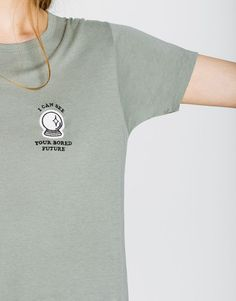 Short-sleeve patch t-shirt - T-shirts - Clothing - Woman - PULL&BEAR Colombia