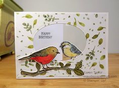 MaudiePapercraft: Stampin' Up! Best Birds window card