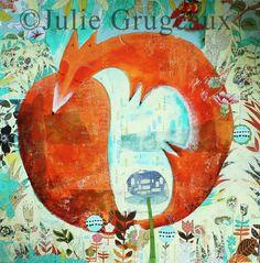 L'artiste du mois de novembre : rencontre avec Julie Grugeaux, peintre et illustratrice jeunesse - l'Atelier Géant