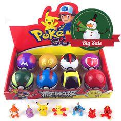 8 Pcs Pokemon Ball + 8pcs Figure Random Cosplay Pop-up BALL 7cm Cartoon Toy Kid   eBay