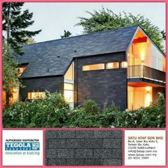 Tegola Premium Rectangular 100% from Italy.  Whatever design, tegola system enhance property value and performance with zero leaking, cooling inside and waranty. Whether there are other rood who can ? Tegola dare to challenge.  Tegola the only fashionable roof for life.  www.1atap.com.my/tegola