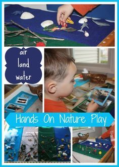 Land, Air, Water sorting. We can use our small animals and pictures from magazines too.